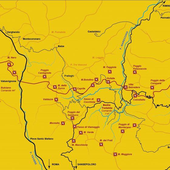 Parco storico Linea Gotica - mappa (2)