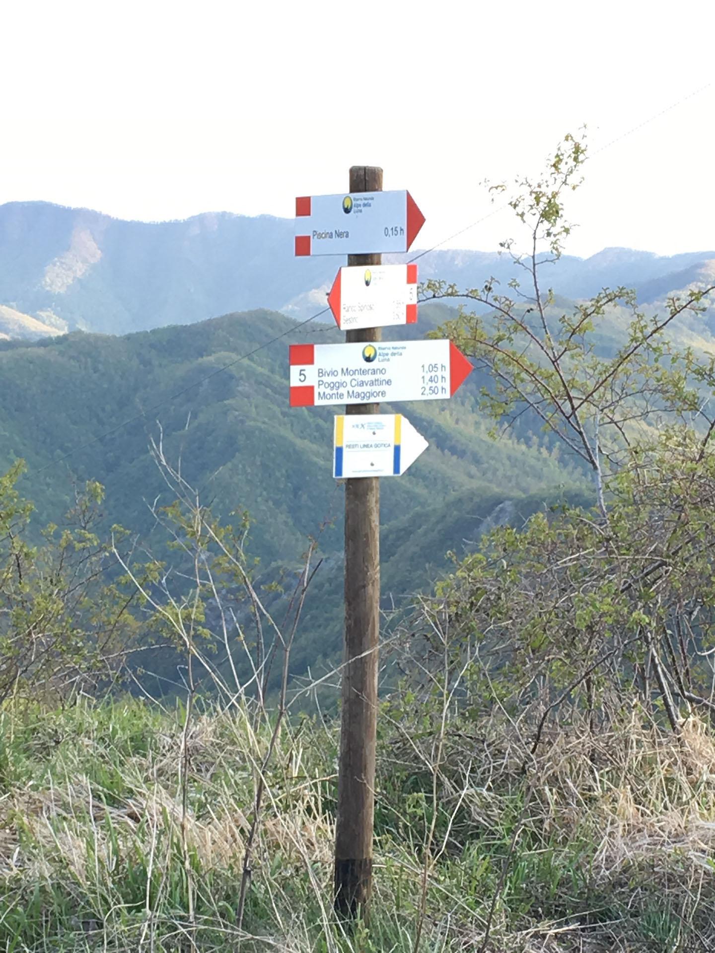 Passo di Montelabreve - Segnaletica