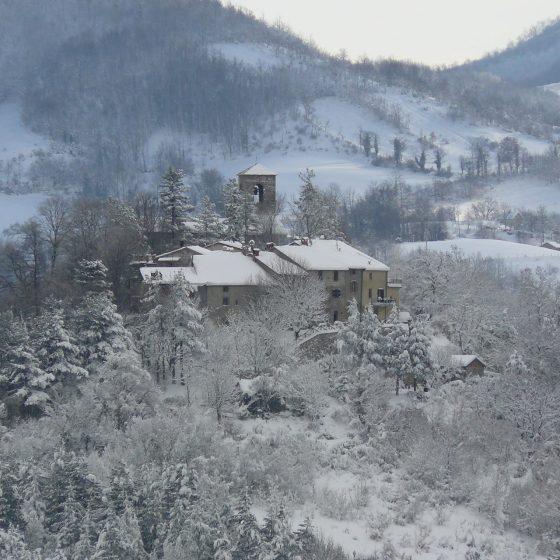 Il Castello sotto la neve - Badia Tedalda
